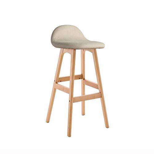 Tabouret De Bar Contre-chaises En Bois Antidérapant Pour Accueil Cuisine Café Bar (Couleur : Blanc, taille : Marron foncé)