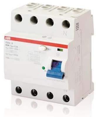 ABB FI-Schutzschalter Typ B F204B-63/0,03 2CSF204592R1630 8012542348030