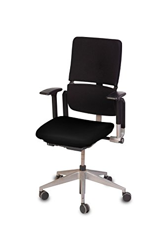 TexDeko Bezug für Bürostuhl, Husse für Bürodrehstuhl, Überzug für Bürostuhlsitzfläche, Sitzbezug (Schwarz)