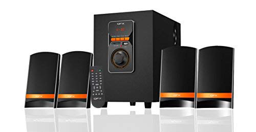QFX QS-Mega 4.1 Channel Bluetooth Multimedia Speaker with USB and Remote (Black)