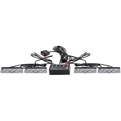 biaochi coche automático ultra slim LED 6modos de Flash 12V 12W peligro seguridad de emergencia Advertencia linterna parrilla Dash cubierta Barra de luz estroboscópica lámpara km351–4