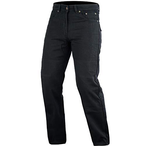 Bikers Gear schwarz Motorrad Kevlar Jeans abnehmbarer Armor Klassischer Schnitt