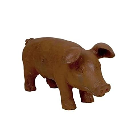 45cm Cast Iron Pig Outdoor Farm Garden Lawn Sculpture Statue Animal Ornament