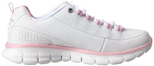 Skechers  SynergyTrend Setter, basket femme Blanc / cuir rose