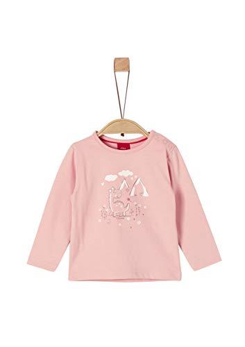 s.Oliver Baby-Mädchen 65.908.31.8699 Langarmshirt, Rosa (Dusty Pink 4257), (Herstellergröße: 92)