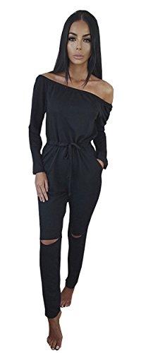 longwu-womens-fashion-off-shoulder-drawstring-jumpsuits-rompers-knee-hole-pants-black-xl