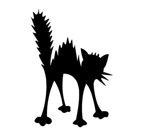 10,3 * 15 CM Schockiert Elektrische Katze Auto Aufkleber Lustige Cartoon Auto Styling Dekorative Abziehbilder Autozubehör/3PCS (Lustig, Halloween Sauber, Cartoons)