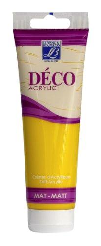 Lefranc & Bourgeois Deco cremige Acrylfarbe matt,hohe Deckkraft, 120ml Tube - Osterglocke