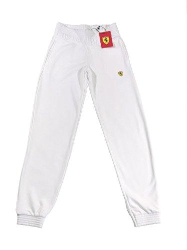 Ferrari Damen/Womens Sweat Pants, Sweatshirthose, Jogginghose, Weiss - S