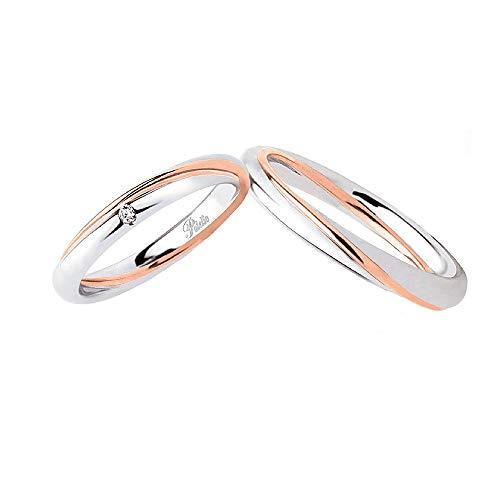Fedi Polello In Oro Bianco E Oro Rosa 18 Kt 750/1000 Con Diamante 2838 Dbr-ubr, 26