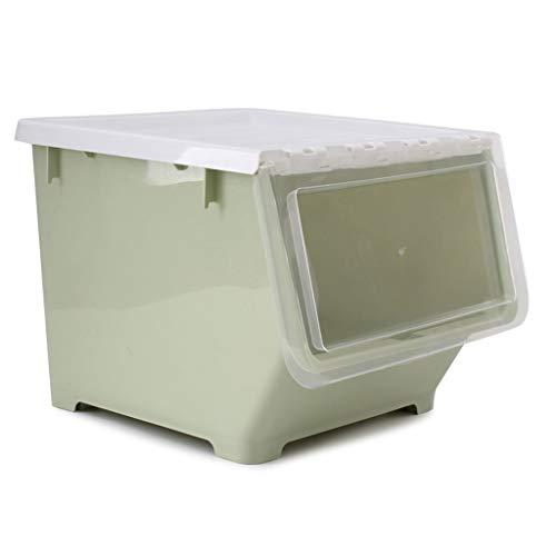 ZDD Aufbewahrungskiste Kinder Muschelschale große Kunststoff-Aufbewahrungsbox, Haushaltsspielzeug Bücher Snacks Fertigstellungsbox (Farbe : Green, größe : 34.5x37.5x28cm)