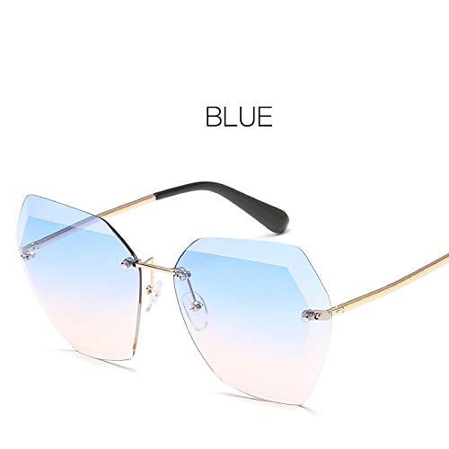 Muxplunt - VTUQOW Bunte Brillen Ozean Objektiv randlos Sonnenbrillen Mode Sonnenbrillen für Frauen Weibliche Sunglass Spiegel gafas de Sol [C5]