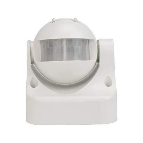 LEDMOMO 180-Grad-automatischer Körper-Sensor-Schalter-Bewegungs-Detektor-Wand-Berg-Außenlicht (weiß) -