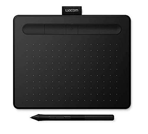 Wacom Intuos S schwarz Stift-Tablett - Mobiles Zeichentablett zum Malen & Fotobearbeitung mit druckempfindlichem Stift & Bluetooth und 2 kostenlosen Softwaredownloads* - Kompatibel mit Windows & Mac