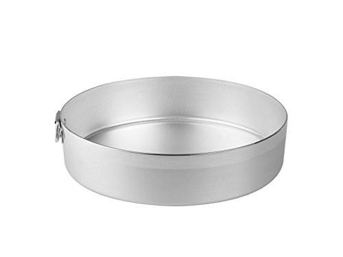 Pentole agnelli fama6626 tortiera cilindrica con anello in alluminio bltf, 26 cm, argento