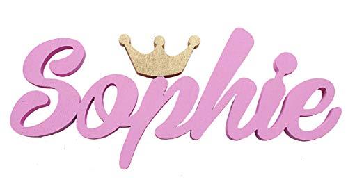 Namen Schild mit Krone ,Sophie, Taufe, Personalisierung, MIA STUDIO