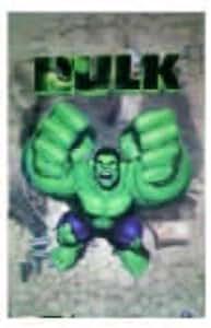 """The Hulk """"2003 Poster à impression lenticulaire 3D 18 x 12 cm"""