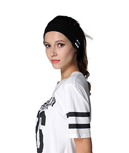 Wireless Bluetooth Musik Sport, Kopfband, Sleep-Stereo-Kopfhörer Headset Bluetooth Stirnband, schwarz
