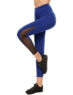 Coorun Pantalones elásticos de Ygoa de deportes ocasionales de la alta cintura