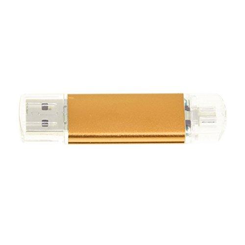 SODIALR Memoria 32GB USB Unidad OTG + mini USB Unidad