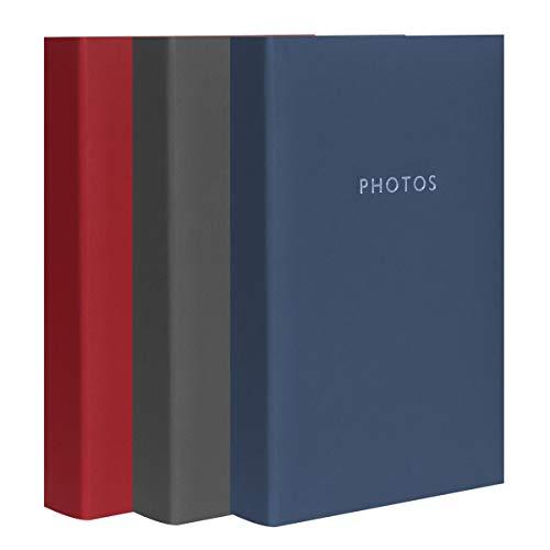 Lote de 3 álbumes de Fotos con Fundas Contempory para 300 Fotos de 10 x 15 cm