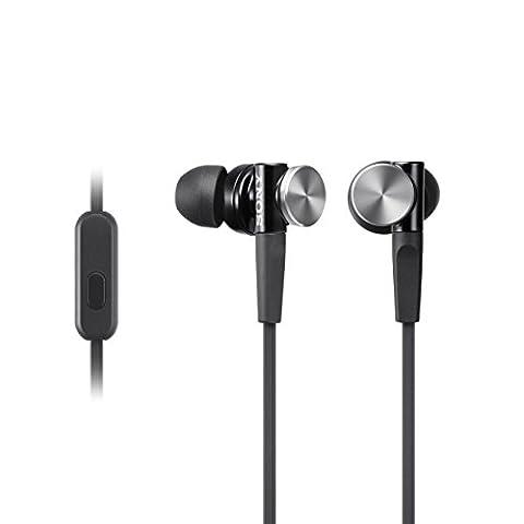 Sony MDR-XB70AP In-Ohr-Headset-Kopfhörer (Extra Bass, Aluminum Gehäuse) schwarz