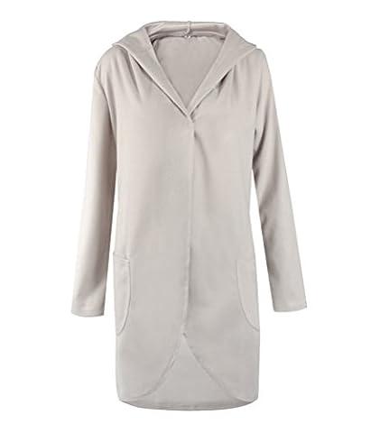 SunIfSnow - Manteau - Duffle coat - Uni - Manches Longues - Femme - gris - Small