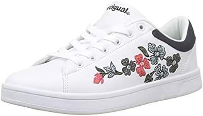 Desigual Shoes_Retro Court Geopatch, Zapatillas para Mujer, Blanco (Blanco 1000),