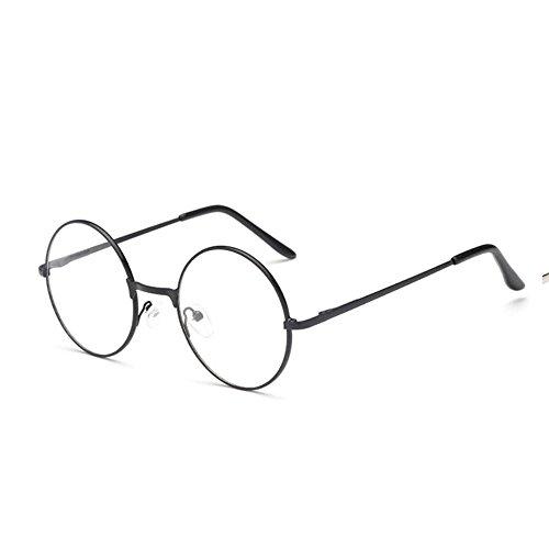 attachmenttou Männer der großen übergroßen Metallrahmen freie Objektiv-runde Kreis-Augen-Gläser Nerd-Mode