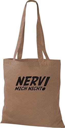 Tote Bag Shirtinstyle Non Mi Infastidisce! Borsa In Cotone, Vari Colori Caramello