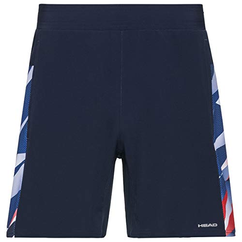 HEAD Herren Medley Shorts M, Dark Blue/Royal Blue, - Herren Head Tennis