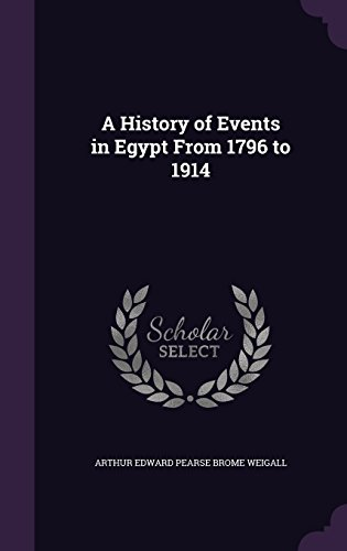A History of Events in Egypt From 1796 to 1914