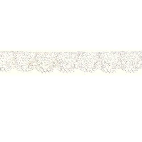 Prym Scalloped-Edge Coque en Dentelle, 100% Coton, Blanc, 18 mm, 2 m