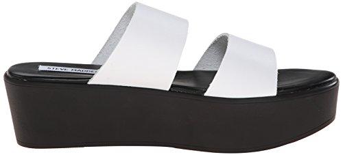 Steve Madden Flyer Cuir Sandales Compensés white