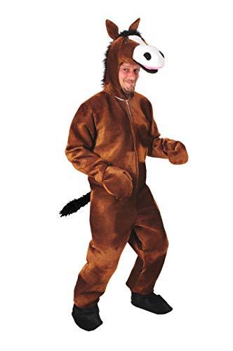 Pferd braun offen Einheitsgrösse L-XL Kostüm Fasching Karneval (Braunes Pferd Kind Kostüm)
