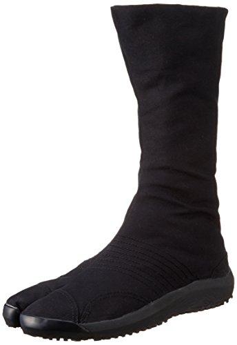 Chaussures de Ninja Air Semi-Montantes Jikatabi (Air Jog) 12 Clips Importe du Japon (Marugo) Noir