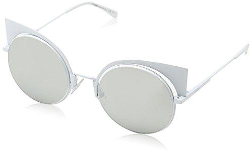 Fendi Damen FF 0177/S SS DMV Sonnenbrille, Weiß (White Grey Speckled Silver), 53
