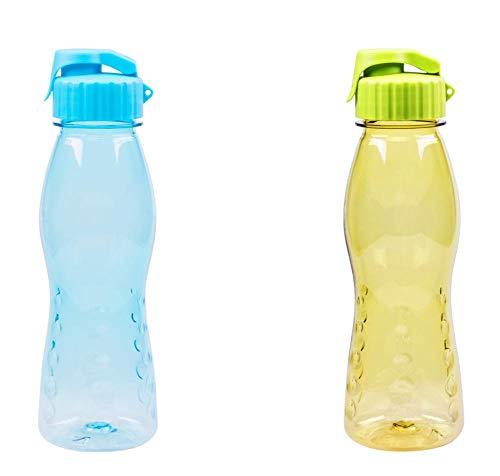 2er Set culinario Trinkflasche Flip Top, BPA-frei, 700 ml Inhalt, blau und grün -