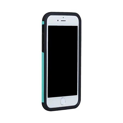 iPhone 7 Hülle,Lantier Dünn Matt Matt Finish Design Shockproof 2 in 1 Combo Defender Schutz zurück hüll Deckung für Apple iPhone 7 4,7 Zoll 2016 Rosen-Gold+Grau Mint Green+Black