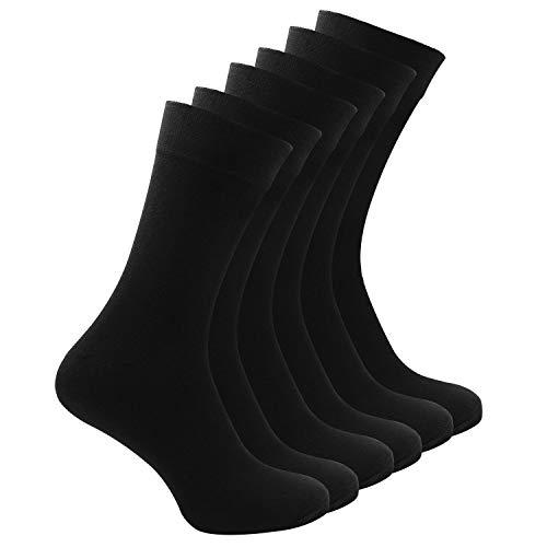 Baumwolle Business Socken für Männer und Frauen-6 Paar Schwarze Socken ONE-SIZE 40-45-Beste Qualität Für Lange Haltbarkeit - Keine Irritierenden Nähte, Keine Einlaufen und Kein Filzen