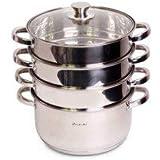 Kamille-steamer pot, 5,5 liter, 5 stuks.