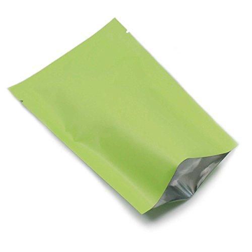 �) 300 Stück Alufolie Vakuumverpackung Süßigkeit Kaffee Zuckertee Verpackung Lagerung Taschen Mylar Mattglasbirne und Glatt Mischen Einzelhandel Open Top Heißsiegel Verpacken Tüten Grün Weiß Rosa 3 Farbe (Grün, Mattglasbirne) (Weiße Beute Beutel)