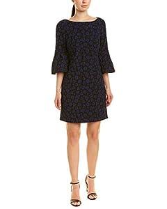 Badgley Mischka Black & Blue Short Cocktail Dress