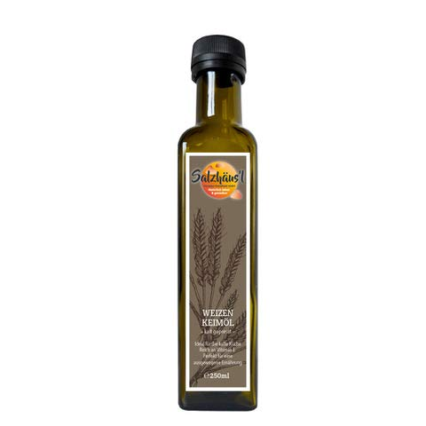 Weizenkeimöl Salzhäusl (vormals Biomond) 250 ml / Testsieger / Gourmetöl / Hautöl / kalt gepresst / nativ / vegan / Rohkostqualität
