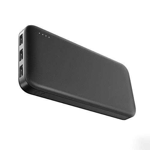 Powerbank 26800mAh, Gachi Externer Akku für Handy mit 2 Eingänge und 3 Ausgänge USB Port, Tragbares Ladegerät Power Bank für Smartphone, Tablet Matt Schwarz