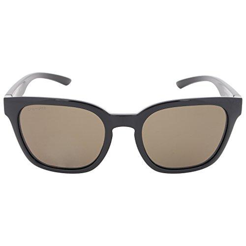 Smith Founder Slim Sonnenbrille Damen Opal/Blue Flash, Damen, Shiny Black/Chroma Pop Grey Green Polar, 53