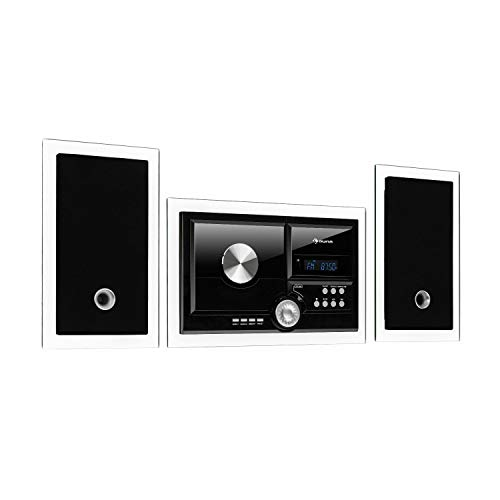 auna Stereosonic Stereo System • Stereoanlage • Kompaktanlage • Radio • zur Wandmontage • CD-Player • USB-Port • Bluetooth • AUX-In • schwarz