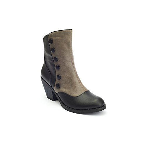 Lola Ramona Gringo Gringo Grigio e nero stivali alla caviglia, grigio (Grey), 38
