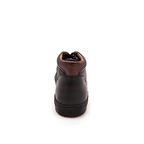Zerimar Herren Lederschuh Komfortabler Schuh mit Flexibler Gummisohle Leder Casual Schuh für Den Mann Hochwertige Leder Schuhe Elegant 100% Leder Farbe Schwarz99
