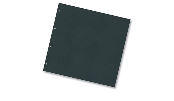 Folia 63990 Ringbuch Einlagen aus Fotokarton 300g//m² 21,5x22,5cm schwarz 20 B